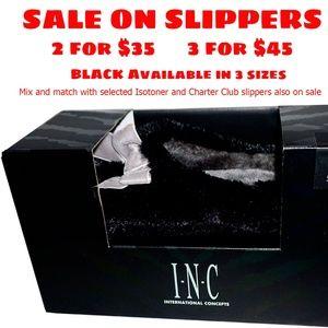 INC International Concepts Plush Clog Slippers 5-6